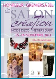 Le Salon de la Création à Honfleur les 15 et 16 novembre 2014